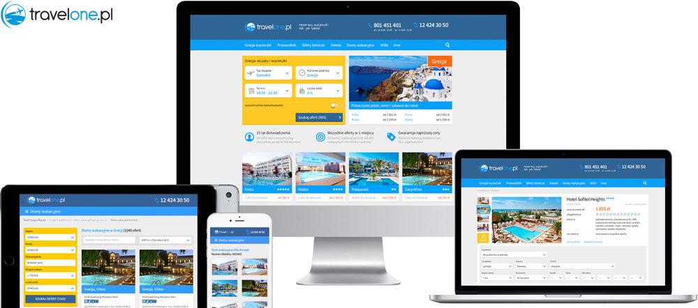 Travelone.pl website design