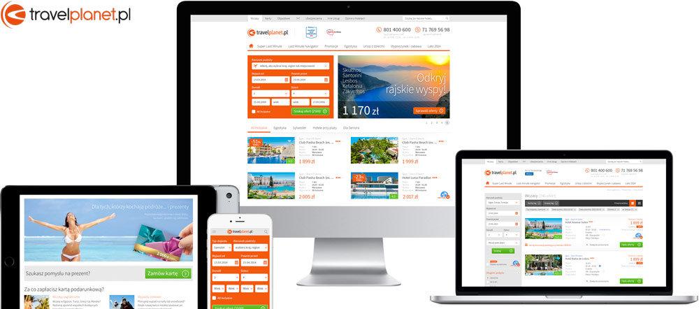 Travelplanet.pl website design